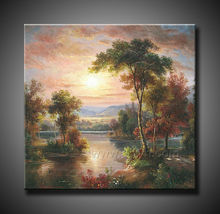famous designs sunrise oil painting