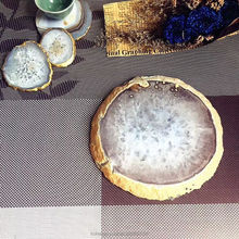 natural polished crystal agate slices different sizes stone slices for coaster