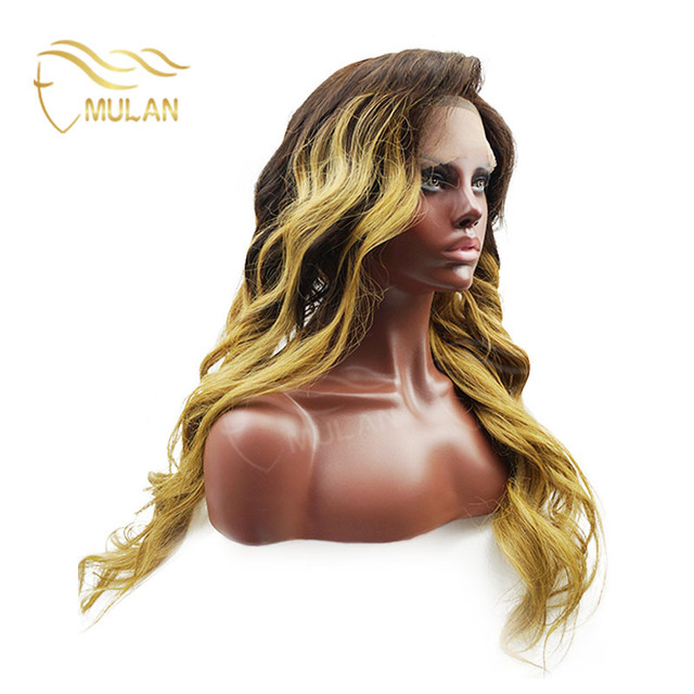Overnight delivery blonde real human hair wigs curly lace front wigs with baby hair