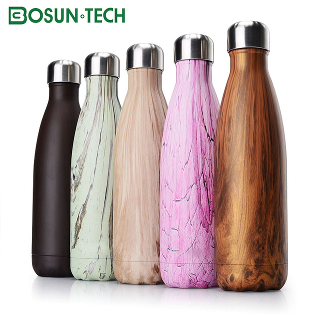 Excellent quality sports blue factor open Stainless steel Sport bottle