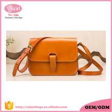 Handmade Vegetable Tanned Leather Crossbody Bag Factory Wholesale Price Italian Leather Tan Sling Bag for Lady