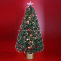 48 Inch Fiber Optic Christmas Trees with Optic Fiber Ornaments