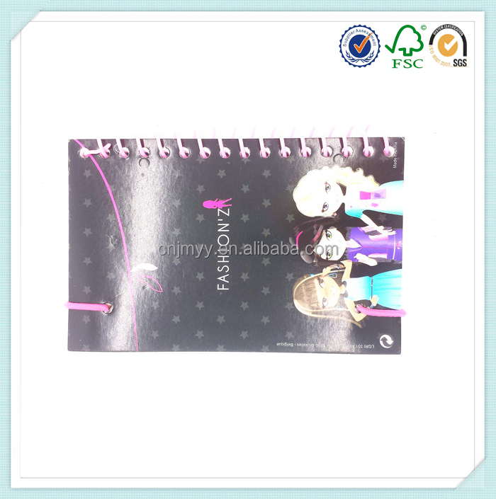 Printing hardcover plain single spiral notebook with elastic band