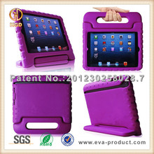 Kids safe stand handle shock absorbent EVA rubber case for ipad 4 3 2