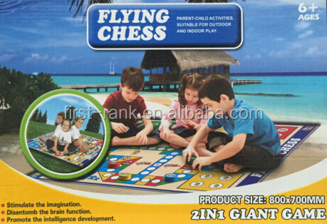 New design board game with plastic flying chess for children