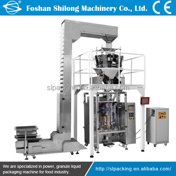 Automatic potato chips/biscuits/nuts/snackgranule packing machine