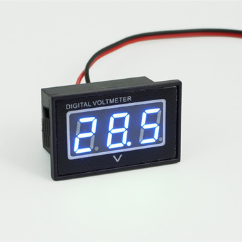 V40D DC Waterproof Digital Voltmeter Car Motorcycle Voltage Meter 2.5-30V 0.4' Shockproof