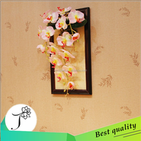 High quality Artificial orchids arrangements natural touch artificial flower in photo frame for decoration,