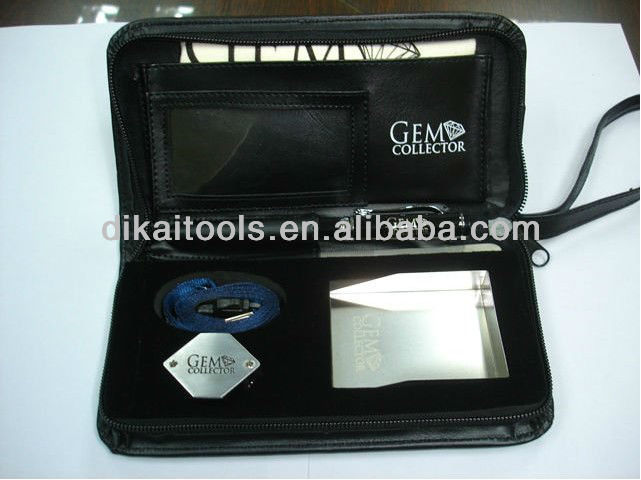 Portable jeweller and gem testing tools case