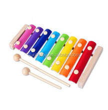 ODM & OEM Available 8 tone Xylophone Type xylophone metal knob and keys mini wooden musical instruments xylophone bars