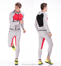 Wholesale hooded sportswear outdoor plain sweat suits mens tracksuits gym sports running suits for men