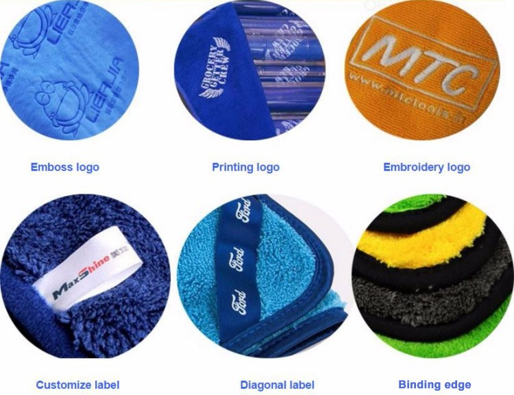 Wholesale customized good quality microfiber polishing cloths/towel microfiber for car cleaning