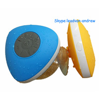 Triangle Waterproof Shower Stereo Bluetooth Speaker Works with All Bluetooth Enabled Devices