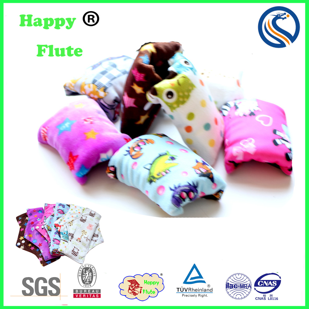 HappyFlute wholesale ladies women sanitary pads absorbent gel bamboo sanitary pads