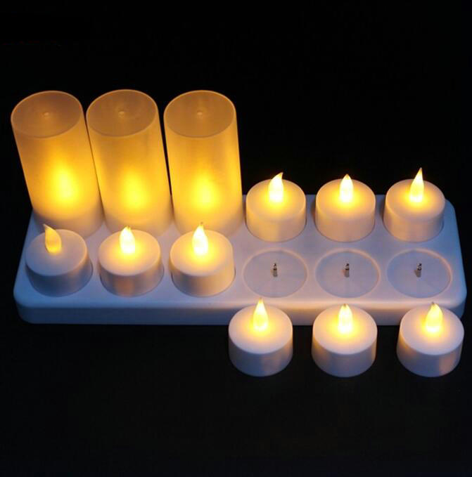 Hot Selling Safety Flameless Rechargeable Electric Tea Light LED Candle Supplier
