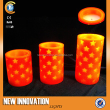 1L LED Wax Candle Realistic Flame Led Candle light