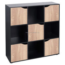 2017 new style 9 cube storage cabinet units with 5 door open and shelf
