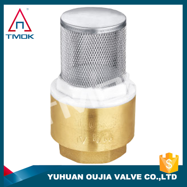 1/2 inch brass body with net plastic swings threaded screw check valves