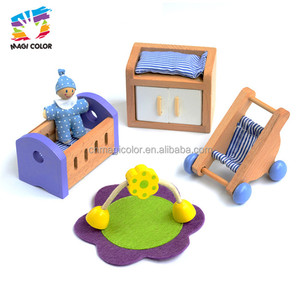 New arrival kids wooden miniature furniture for dolls house W06B087