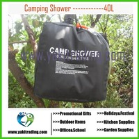 New 40L 10 Gallon Camping Hiking Solar Heated Camp Shower Bag Outdoor Shower Water Bag Portable