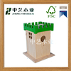Trade assurance small wooden house design pet hose bird house