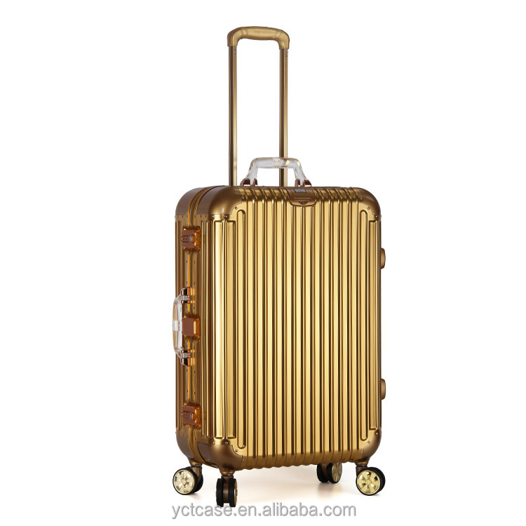 Wholesale OEM/ODM Dongguan New Women Metal Aluminum Luggage Suitcase