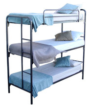 High quality bedroom furniture cheap used triple metal bunk metal beds for sale