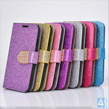 Bling leather flip case for samsung galaxy note 2 P-SAMN7100CASE047