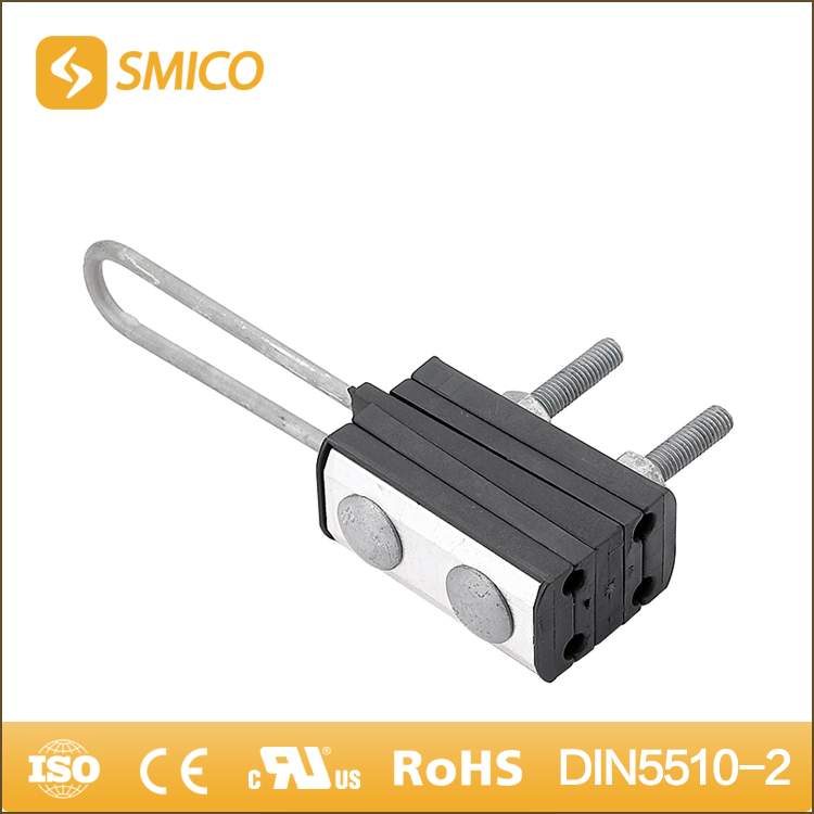 SMICO Strong Springs Aluminium Alloy And Plastic Suspension Tension Opgw Aerial Anchoring Clamp
