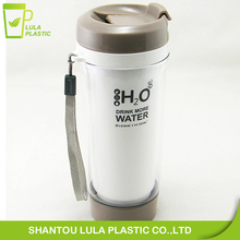 Double Wall Beautiful Tea&Juice water filter bottle with strainer inside