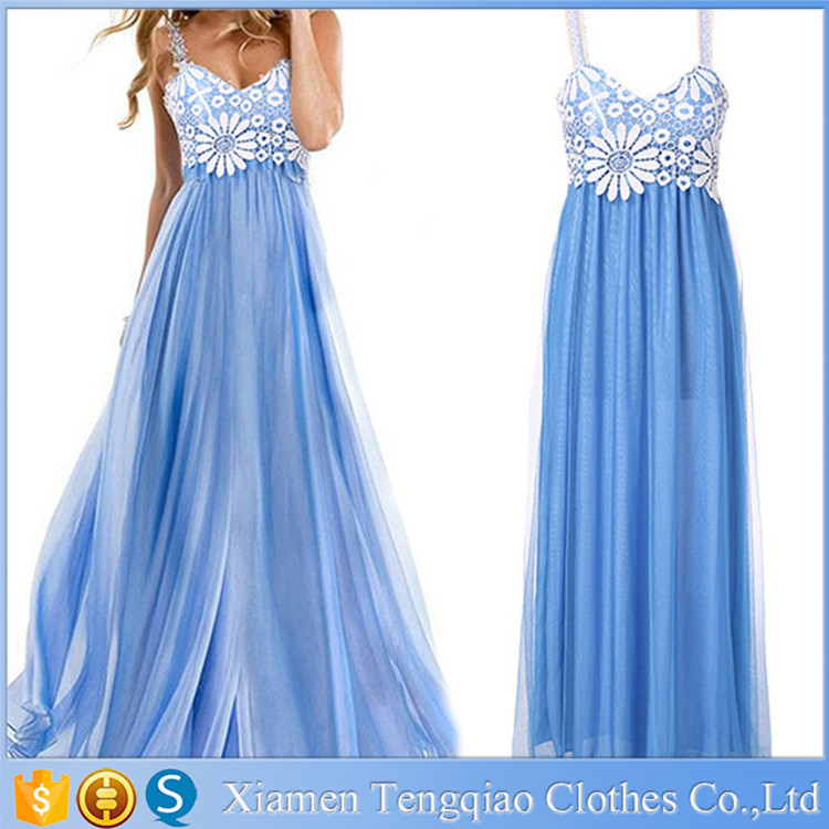 Abendkleider Lang Ice Long Royal Blue Sexy Free Prom Dress Made in China