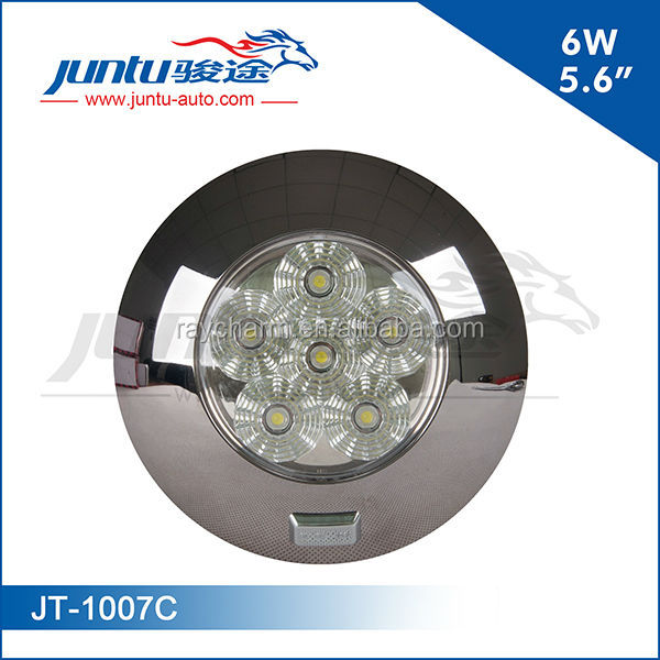 Hot~6W 5.6inch round 12v led interior working light 6w led dome light