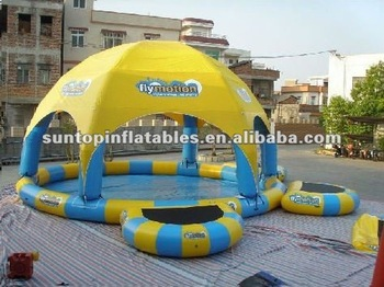 Inflatable pool and tent with best quality materials
