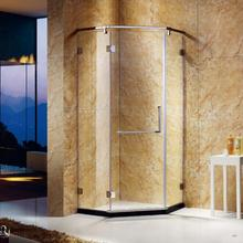 top sell and walk in shower enclosures of aluminium alloy with frame and artificial stone