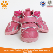 JML Fahion Waterproof Leather Pet Dog Shoe for Sale Dog PU Shoes with Rubber sole