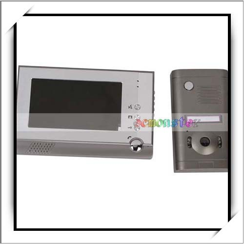 7 Inch One To One Visible Interphone Wired Doorbell Silver