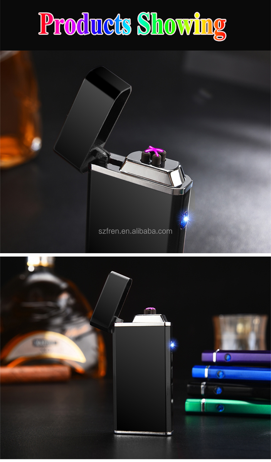 2017 fren The latest fashion cigarette lighter plasma x lighter
