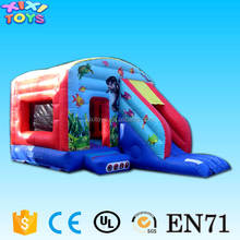 XIXI Outdoor sea world inflatable bouncy castle combo with slide