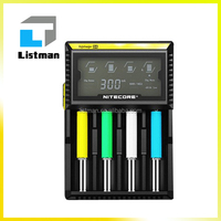 100%hottest wholesale Factory Price Original Nitecore D4 Charger Li-ion Mod Battery Charger for li ion /Ni mh/Ni Cd 3.7v battery