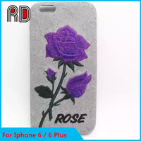 New Arrival embroider rose For Iphone 6S Mobile Phone Accessoires