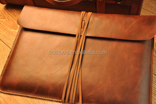 factory supply soft leather laptop bag for travel accessories, for macbook sleeve leather