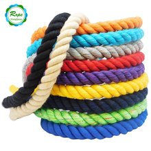 Wholesale Cheap 3 Strand Multiple Colors Natural Twisted Cotton Rope for Packing