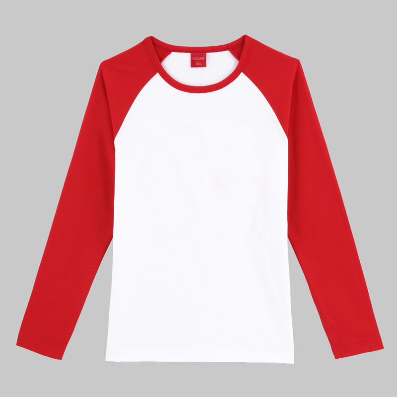 Raglan Two-color Long Sleeve T-shirt Women - Buy Long Sleeve T ...