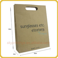 logo printing brown paper grocery bag for food