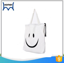 Women wholesale emoji cosmetic bag makeup canvas handbag drawstring bag