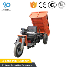 LC high quality 3 tons electrical motor cargo dump tricycle