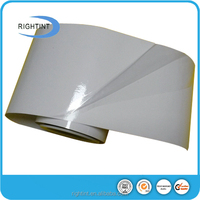 Self adhesive transparent white cling static PVC film