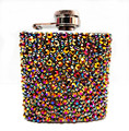 3OZ crystal stainless steel hip flask