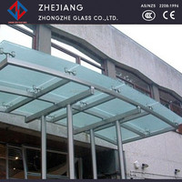 Stained glass and hollow structure laminated glass