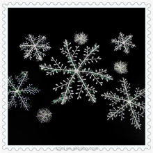 Christmas Tree Decoration Plastic Snowflakes Shop Window Hanging Ornament For Christmas Wholesale